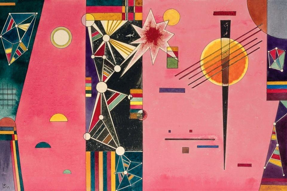 Vasilij Kandinskij - Rosa Rot, 1927