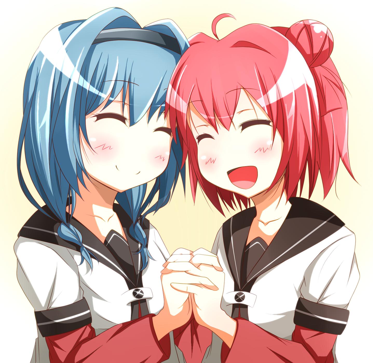 Anime picture 1437x1398 with yuru yuri akaza akari