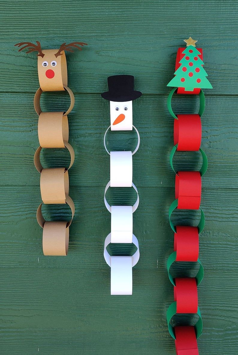 Christmas countdown craft kit - paper chain - adve
