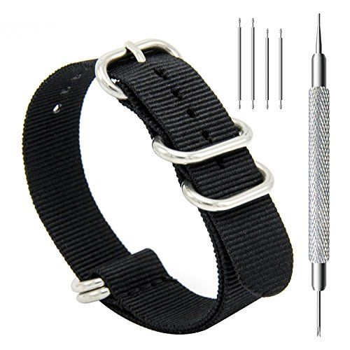 aac71e76001 Women s Watch Bands - CIVO Heavy Duty G10 Zulu Military Watch Bands NATO  Nylon Watch Strap