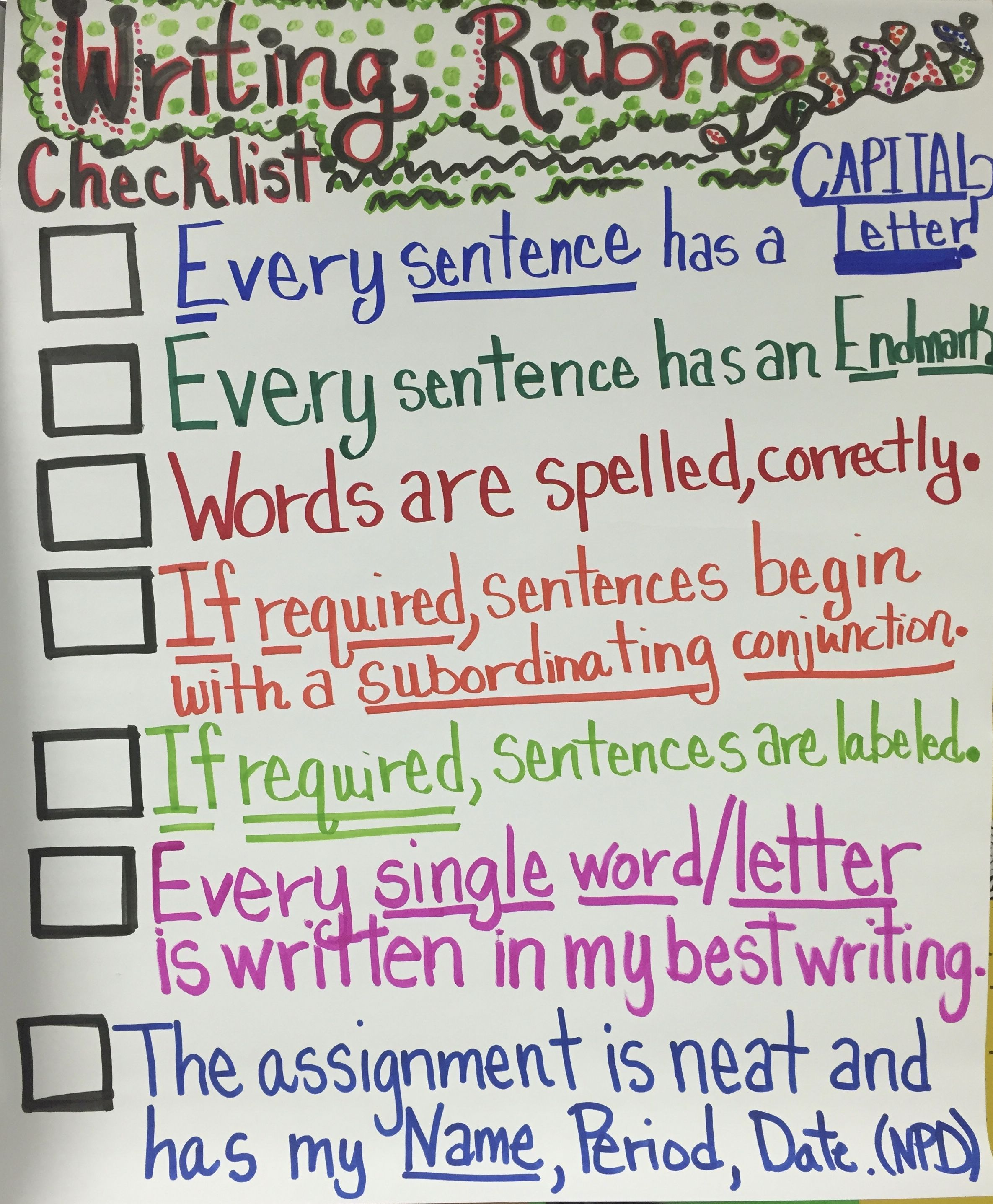 Hold Students Accountable For Their Own Work A Checklist
