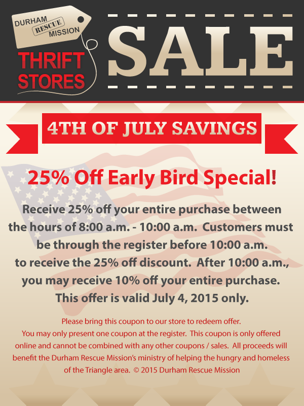 July 4th Savings See Coupon For Details Happy Shopping Thrifting Winter Outfits Thrift Store