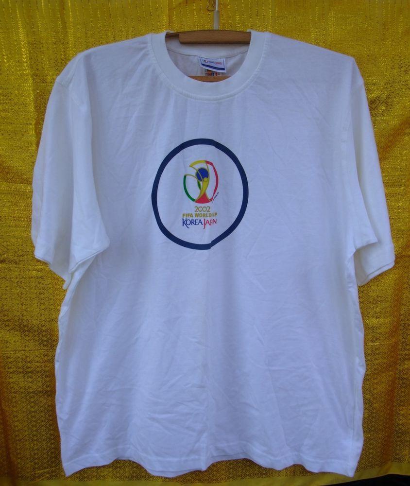 Adidas 2002 Fifa World Cup Korea Japan T Shirt 1999 White Men S Shirt Football Adidas Basictee Rubashka Muzhskaya