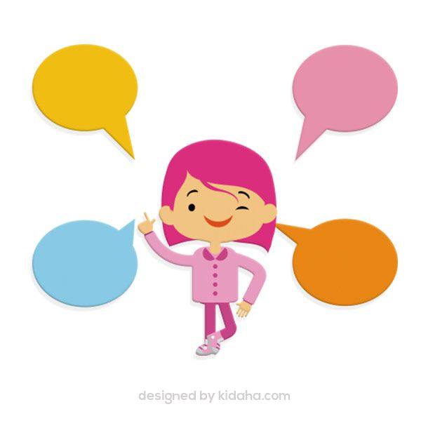 free education clip arts girl with speech bubbles free education and rh pinterest com