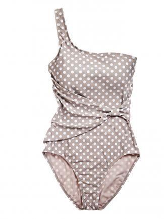 perry ellis one strap polka dot bathing suit