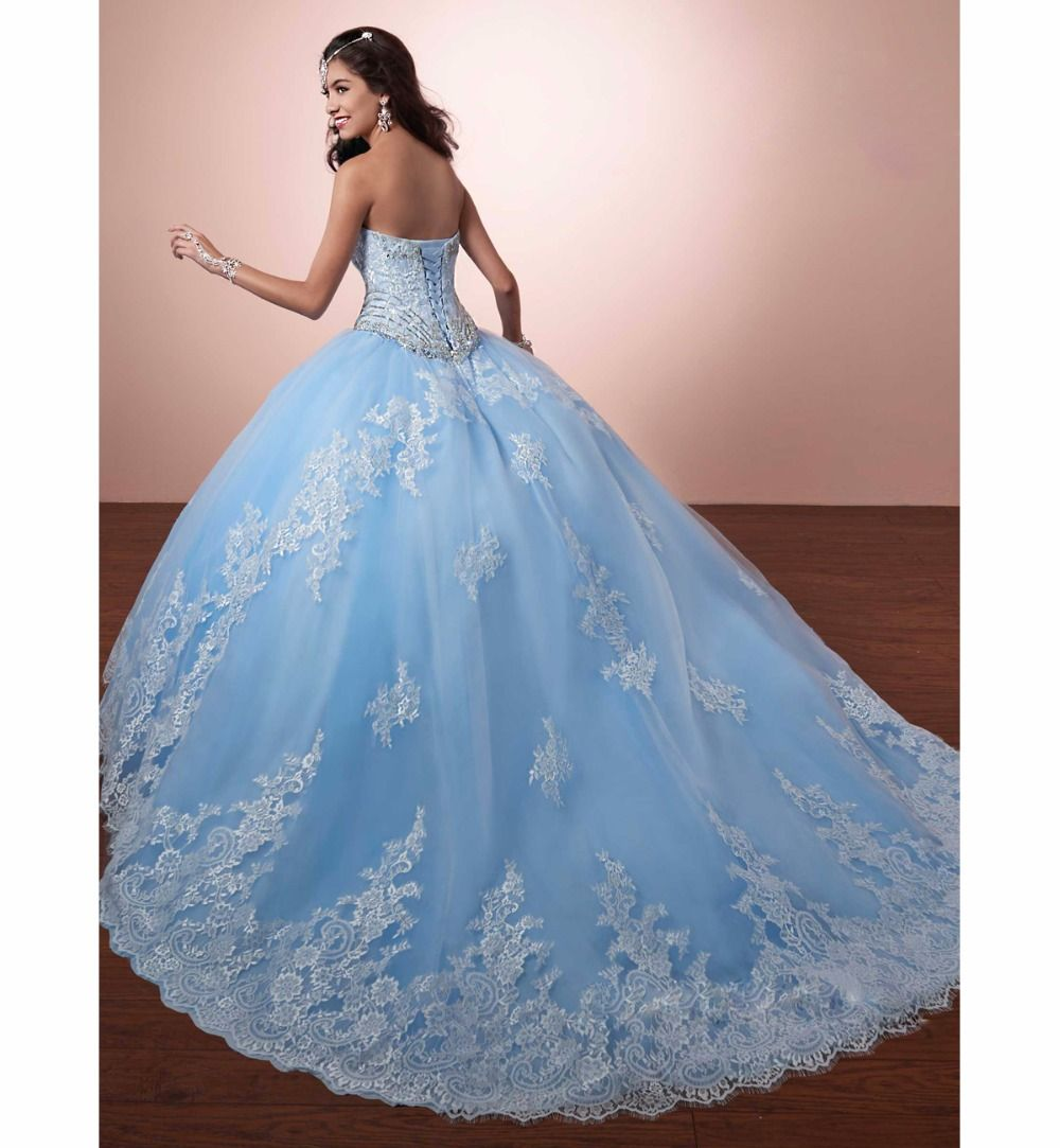 Find More Quinceanera Dresses Information about 2016 New Lace A Line ...