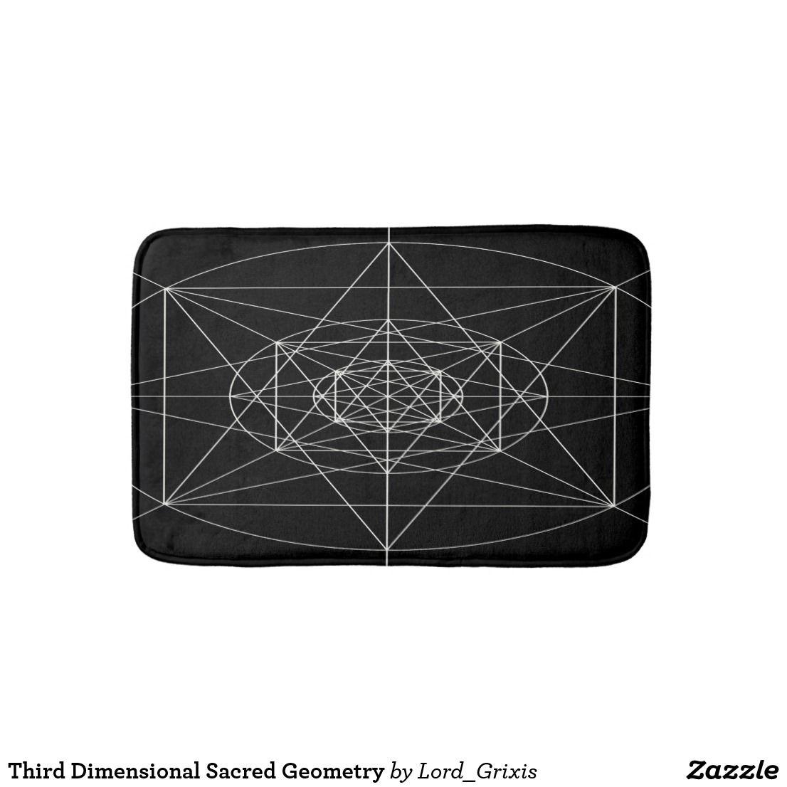 Sacred Geometry Bath Mat