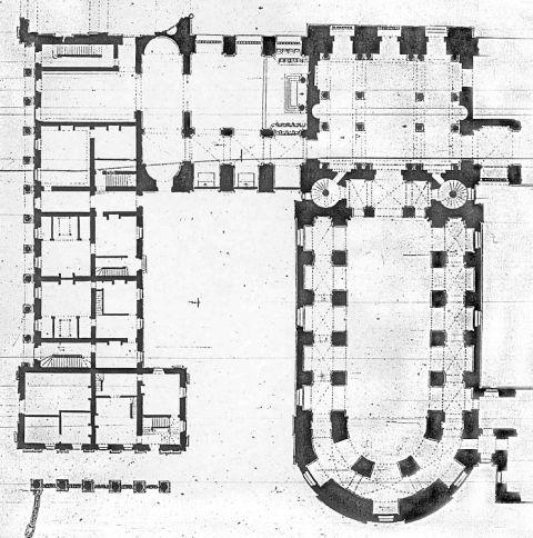 fig 1 plan du rez de chauss e du ch teau vers 1700 d tail paris biblioth que nationale de. Black Bedroom Furniture Sets. Home Design Ideas