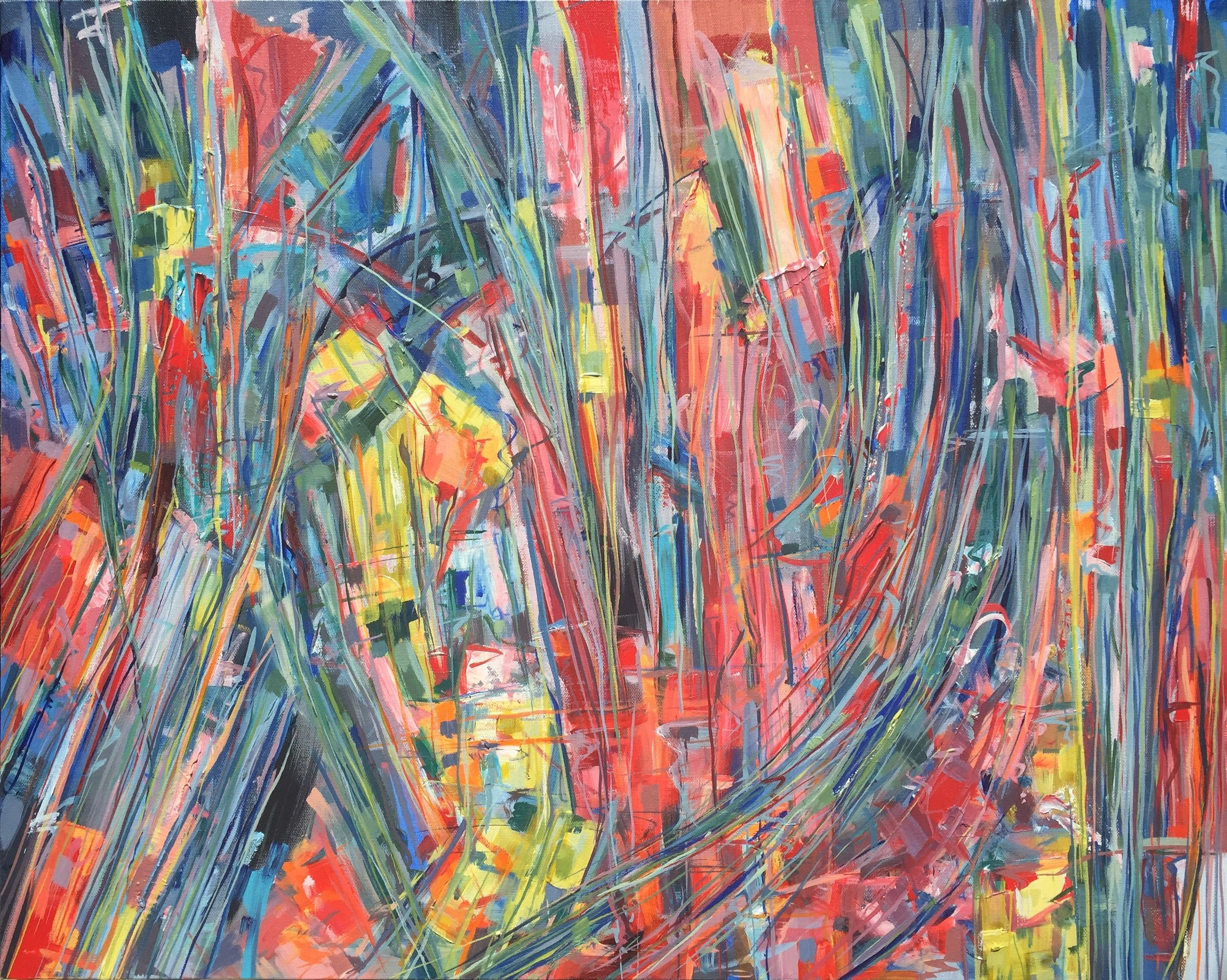 Original Abstract 8 x 10 Painting by Evan Saenger | Abstract Expressionism | Stretched Canvas