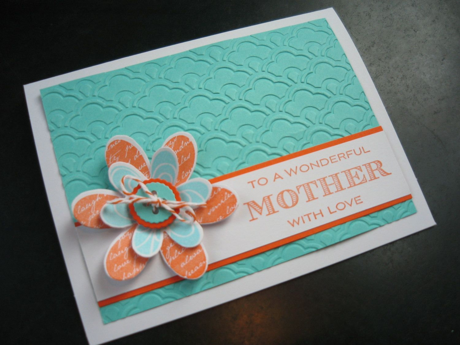 Handmade mothers day card by apaperaffaire on etsy 300