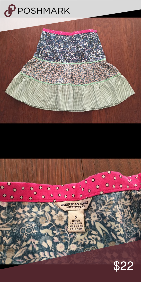 American eagle outfitters tiered knee length skirt Brand new without tags, never worn before. Very cute for all ages! American Eagle Outfitters Skirts Midi
