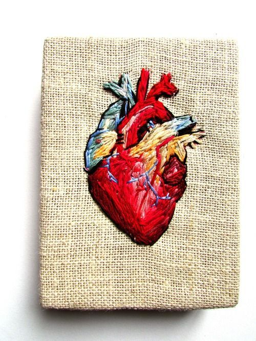 Heart stitched embroidery pinterest stitch