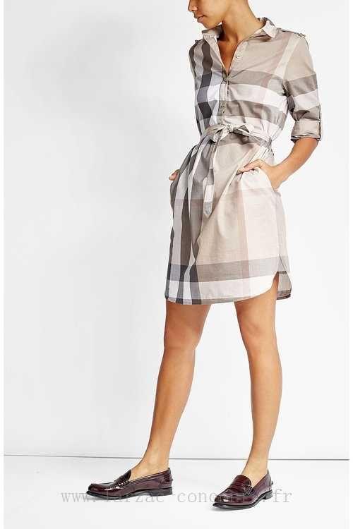 60 robe chemise carreaux en coton multicolore pour femme burberry london v tements pmwu. Black Bedroom Furniture Sets. Home Design Ideas