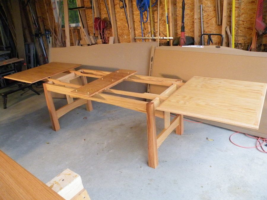 Dining Table With Leaves That Pull Out refectory table or dutch pullout -jeepersparky @ lumberjocks