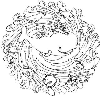Coloriage Baleine Mandala.Mandala Baleine Mandala Mandalas Coloriage Mandala Mandala
