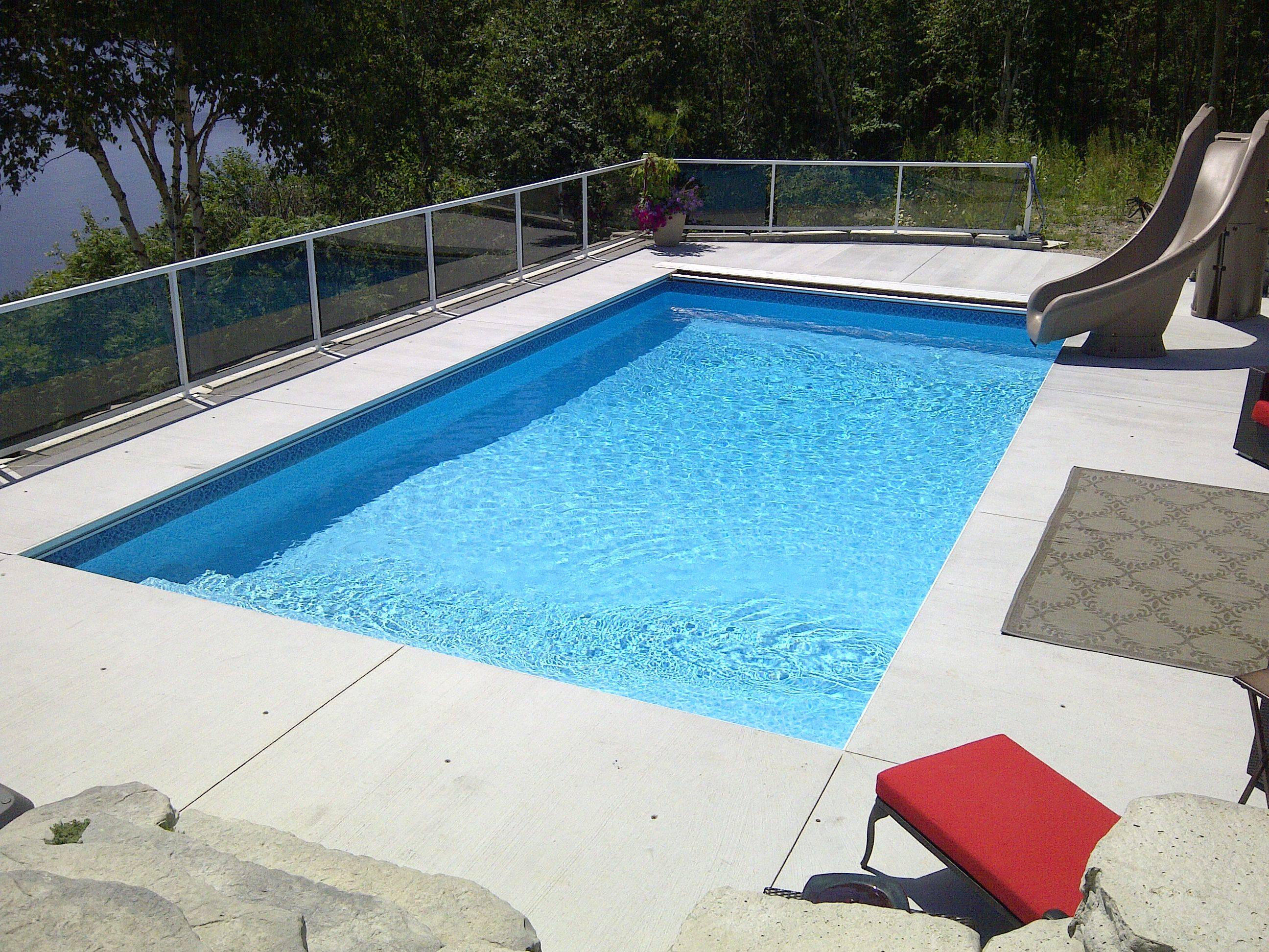 16x32 Rectangle With Autocover Swimming Pools Inground Inground