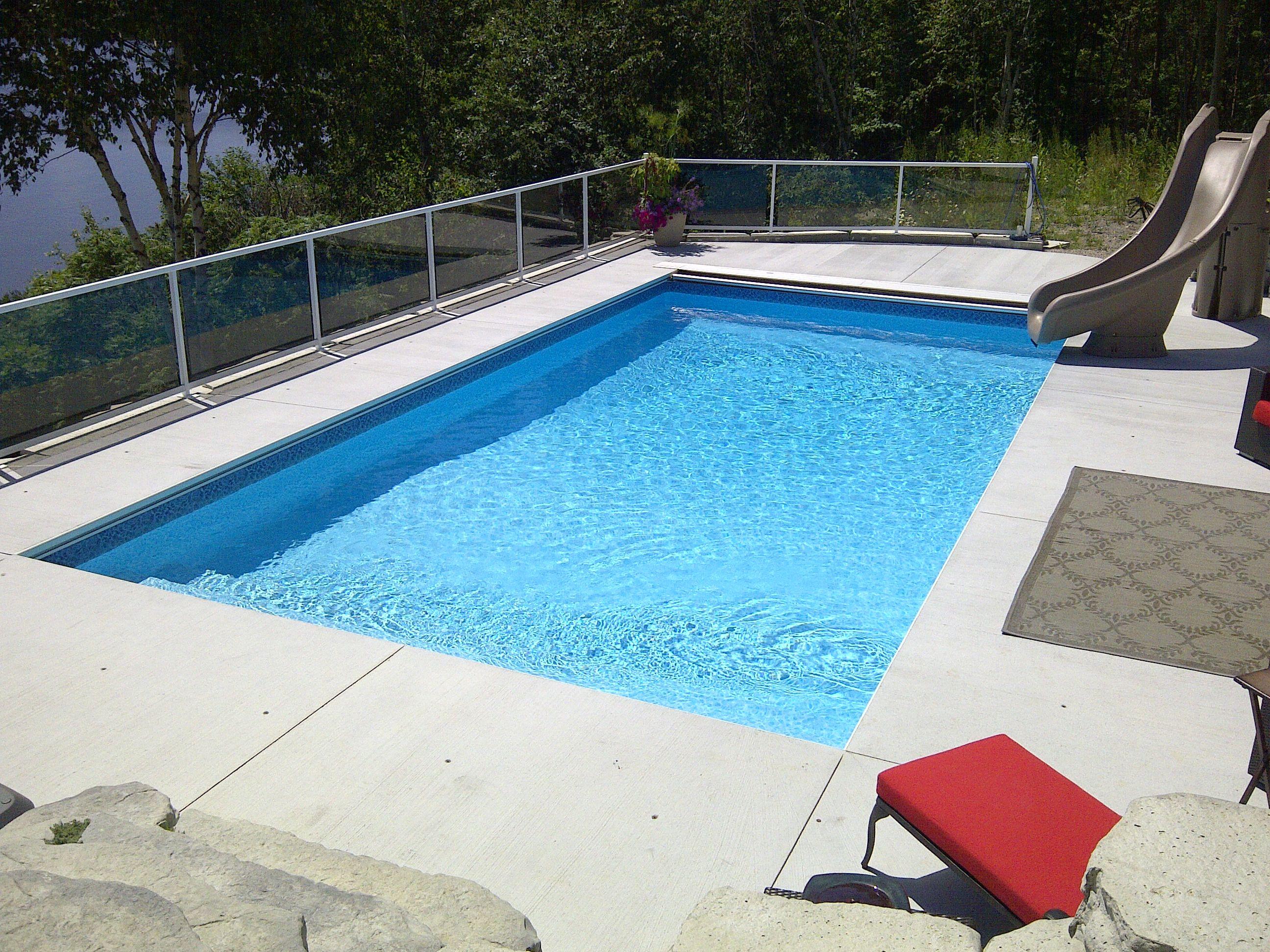 Rectangle Inground Pools 16x32 rectangle with 2 foot radius corners | inground swimming