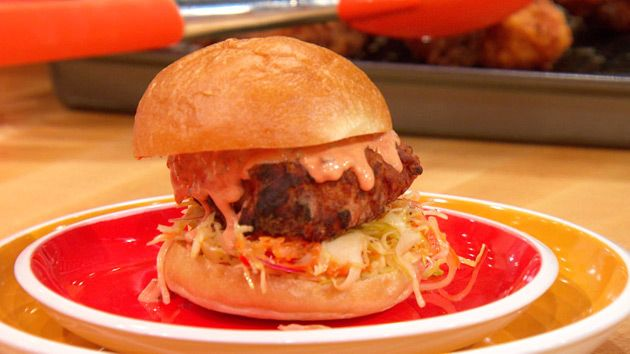 Buttermilk Fried Chickenwiches With Sweet Slaw Recipes Poultry Recipes Rachael Ray Recipes