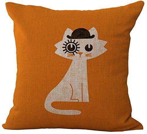 Decorative Cotton Linen Square Throw Pillow Case $12.89