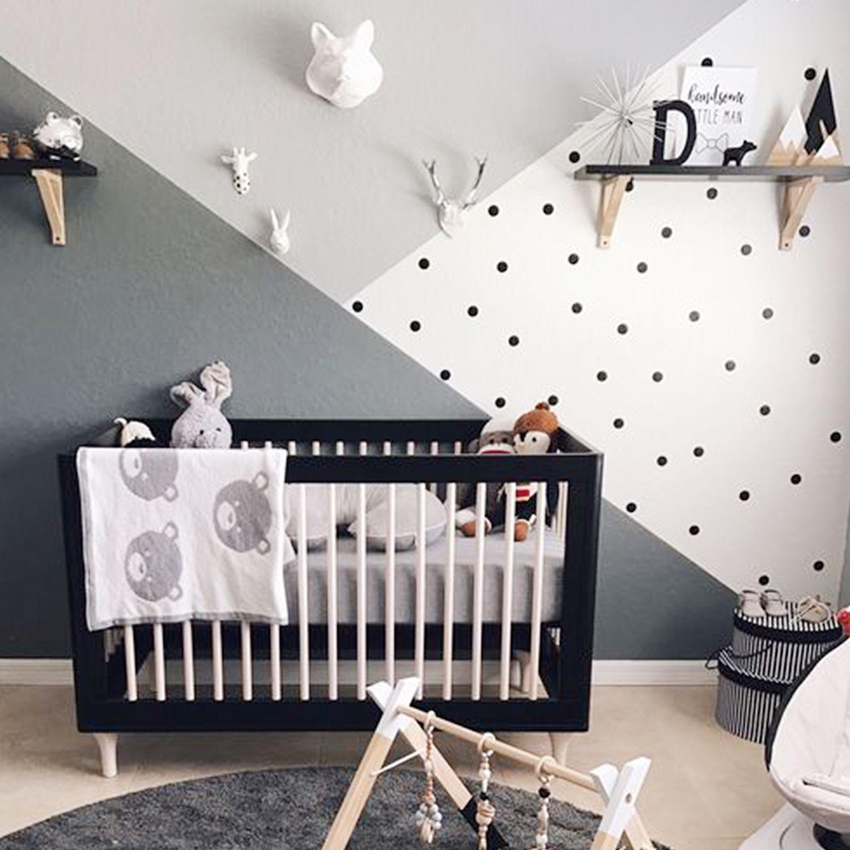 Habitaci n beb en blanco y negro for Vinilo habitacion nina