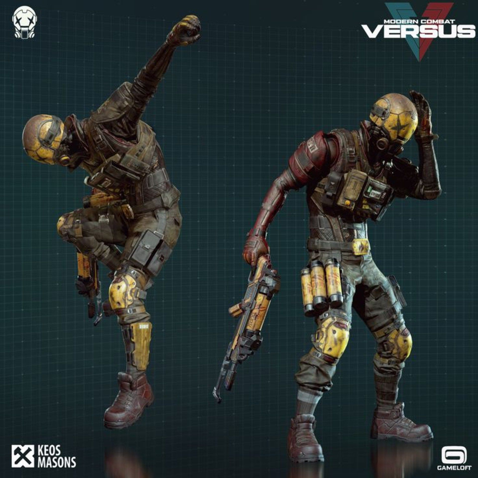 Android Mobiles Full Hd Resolutions 1080 X Modern Combat Versus Characters Hd Wallpaper Download Character Combat Gameloft