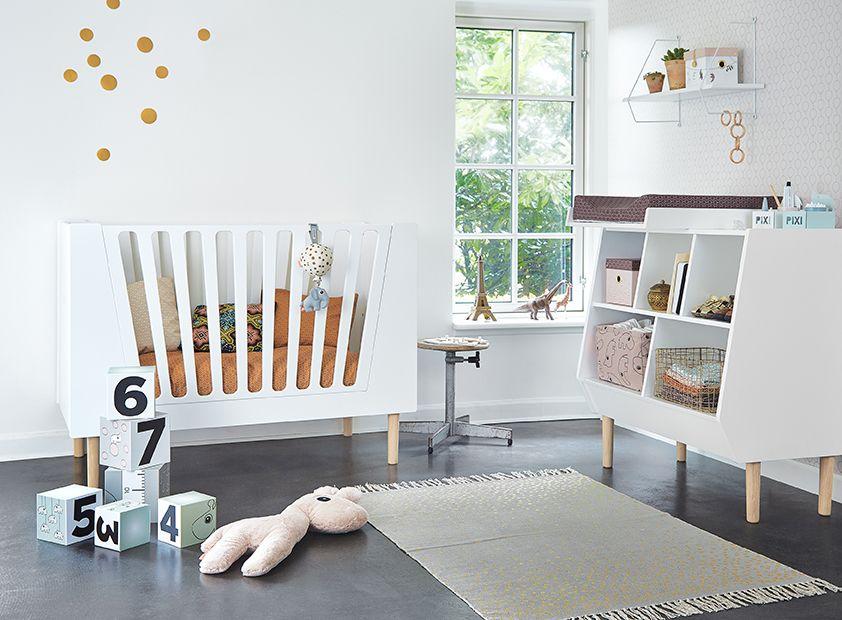 Vloerkleed grijs goud babykamer modern nurseries