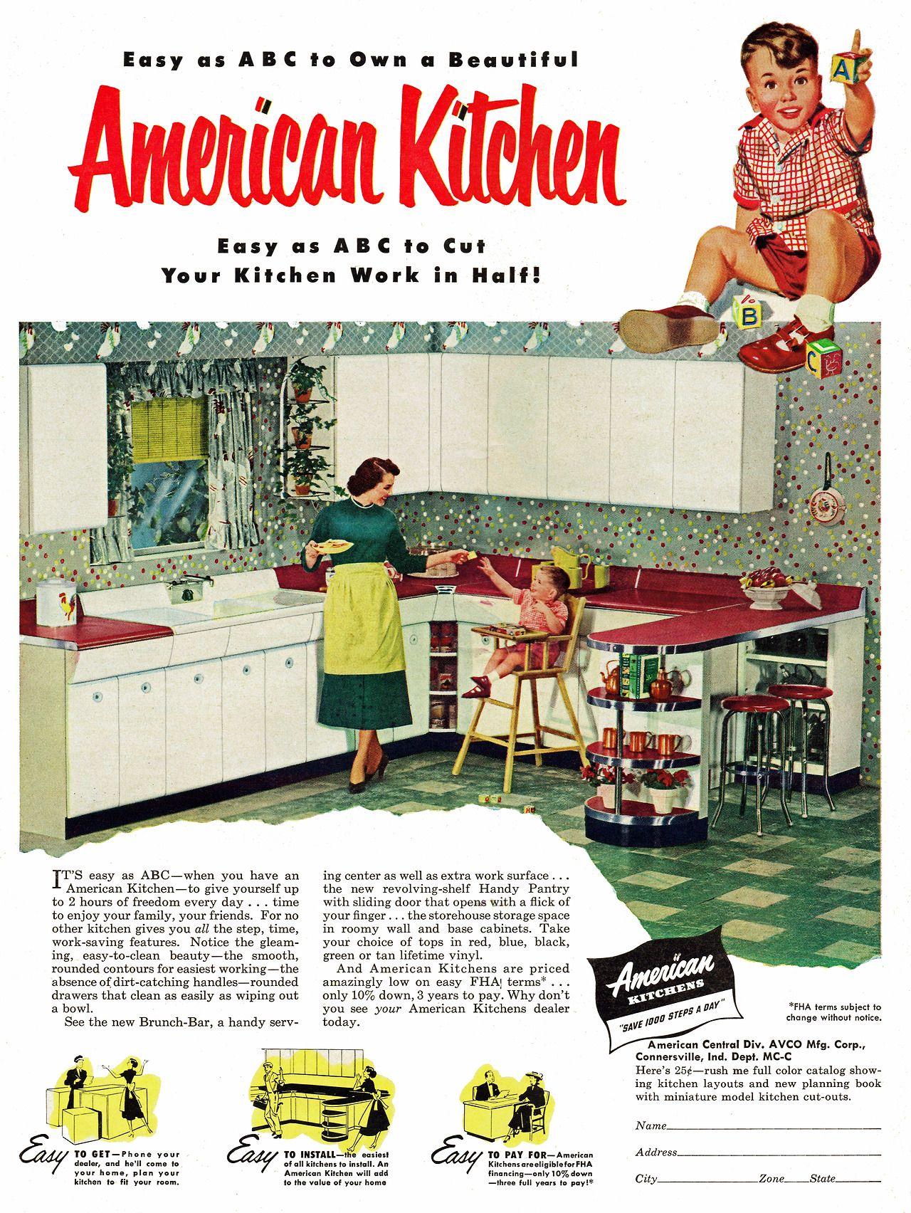 Best American Kitchen 1952 Beautiful 50 S Kitchen Met 640 x 480