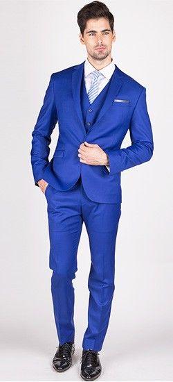 Clinton - Royal Blue 3-dílný oblek  adfdb8a4ae