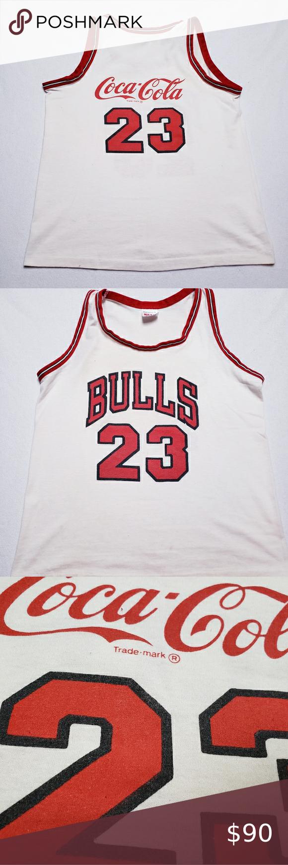 Jordan X Coke Collab Jersey Chicago Bulls Promo Shirts Vintage Shirts Tank Top Shirt