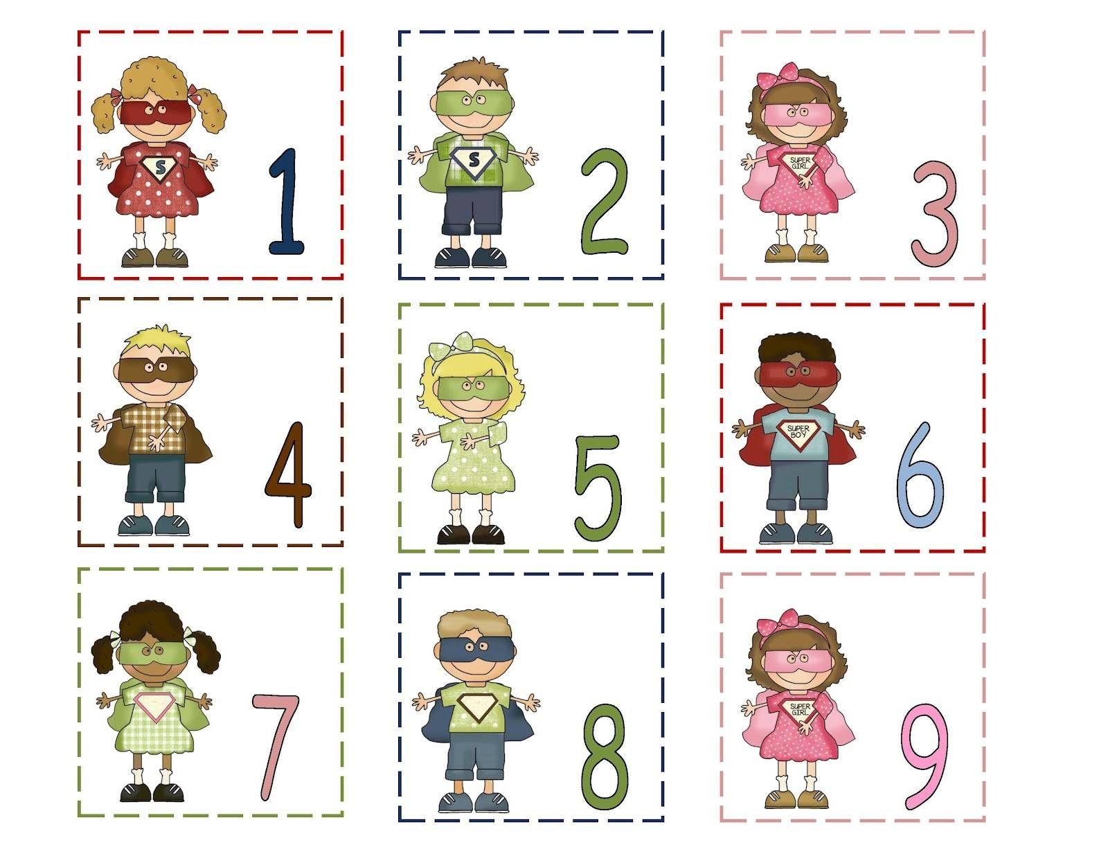 Calendar Numbers Printables Preschool : Free printable calendar numbers preschool