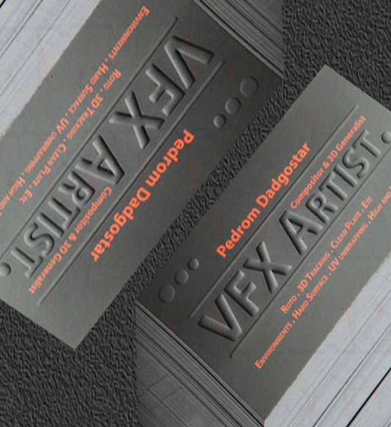 Embossed Business Cards | Embossing Business Cards | Pinterest ...