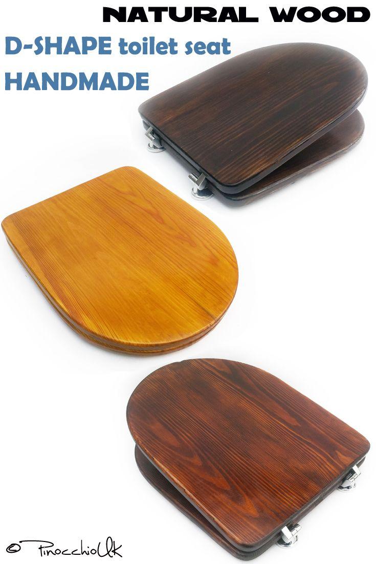 Dshape Wood Toilet Seat  Colors To Choose Square Wooden - Soft close wooden toilet seat