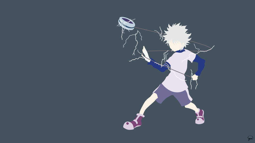 Killua Zoldyck Hunter X Hunter Minimalism By Greenmapple17 Hunter Anime Hd Anime Wallpapers Anime Wallpaper