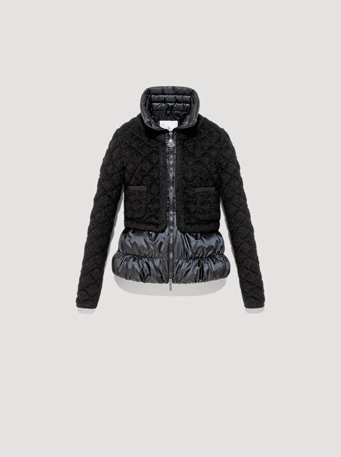 moncler black down gaufre jacket