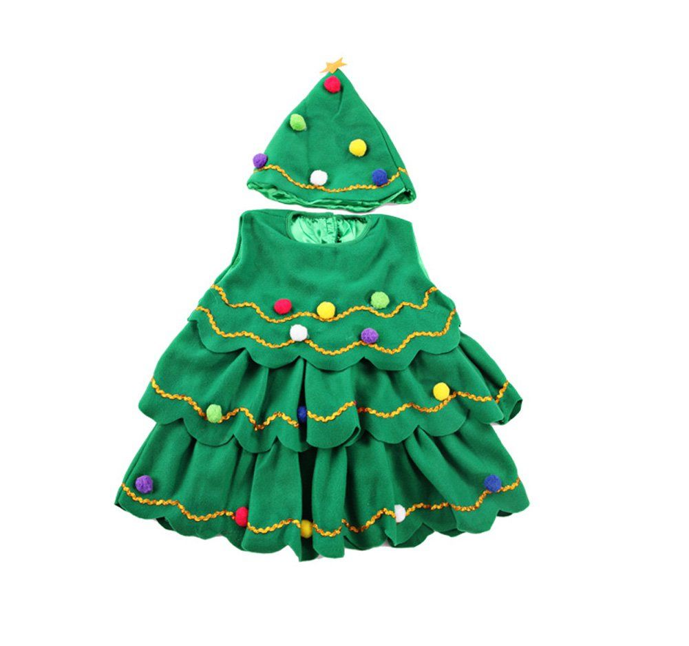 Christmas Dress Xmas Tree Green For 114 Years Girls 58 5 1112 Years A Lot More Info Can Be Located At The Girls Christmas Outfits Dress Xmas Tree Outfit Sets