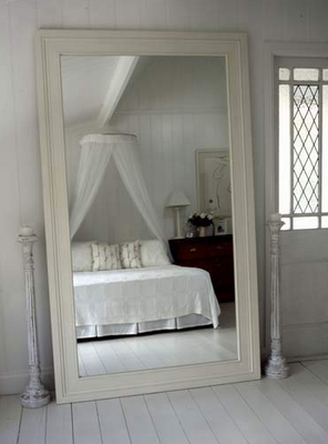 In replacement of the buffet table bedroom pinterest for Long mirrors for bedroom wall