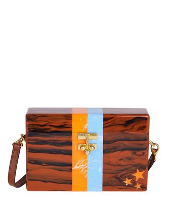 Stars & Stripes Small Trunk Bag by Edie Parker at Bergdorf Goodman.