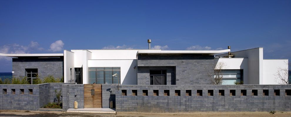 Boundary Wall Design Exterior Industrial With Entrance Contemporary