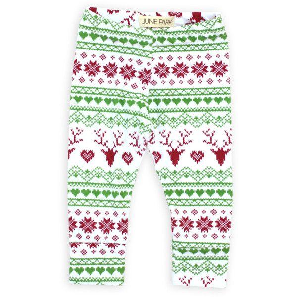 Baby Leggings Toddler Leggings CHRISTMAS Red and Green Fair Isle ...