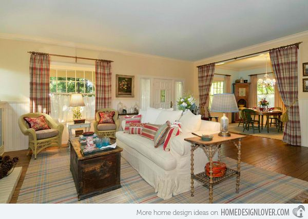15 Homey Country Cottage Decorating Ideas for Living Rooms ...
