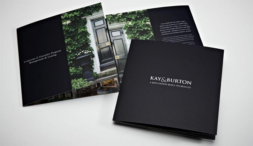 Casette - Kay  Burton; Creative concept opening of door Property - property brochure