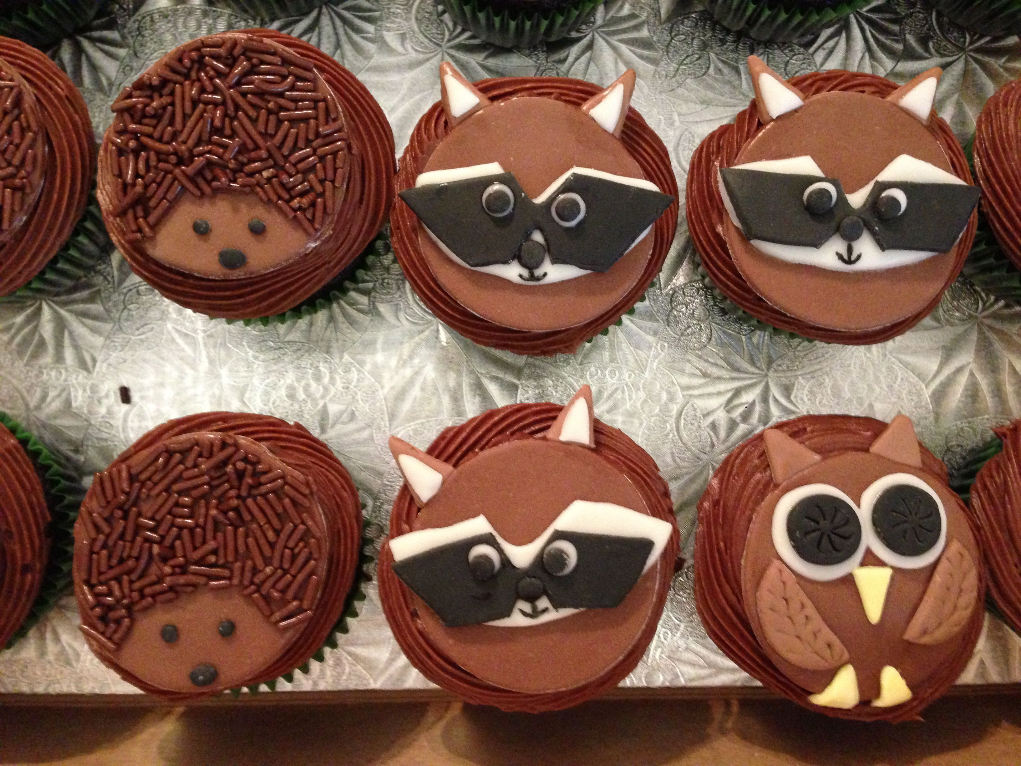 Fondant woodland animals on cupcakes 1 of 2 (With images