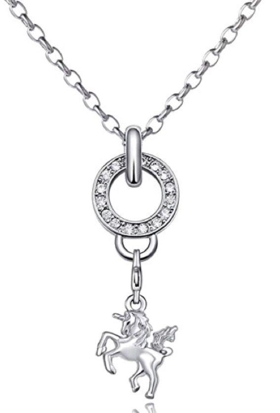 Frauen Silber Halskette Box Charms Anhänger Schmuck Retro Weihnachtsgeschenk  X