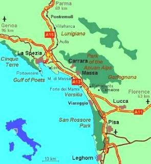 Map of Versilia Viareggio Italy Travel Pinterest Italy