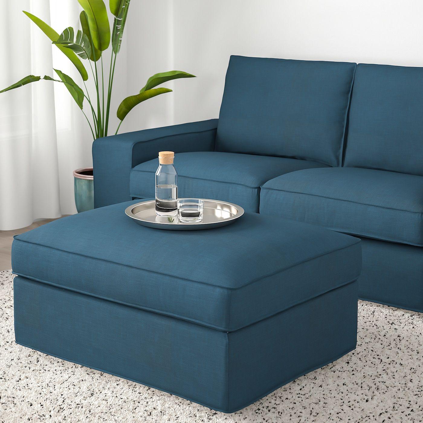 Ikea Kivik Footstool With Storage In 2020 Storage Footstool