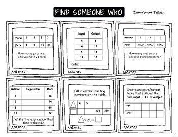 Find Someone Who, Origo Stepping Stones, Grade 4 TEKS