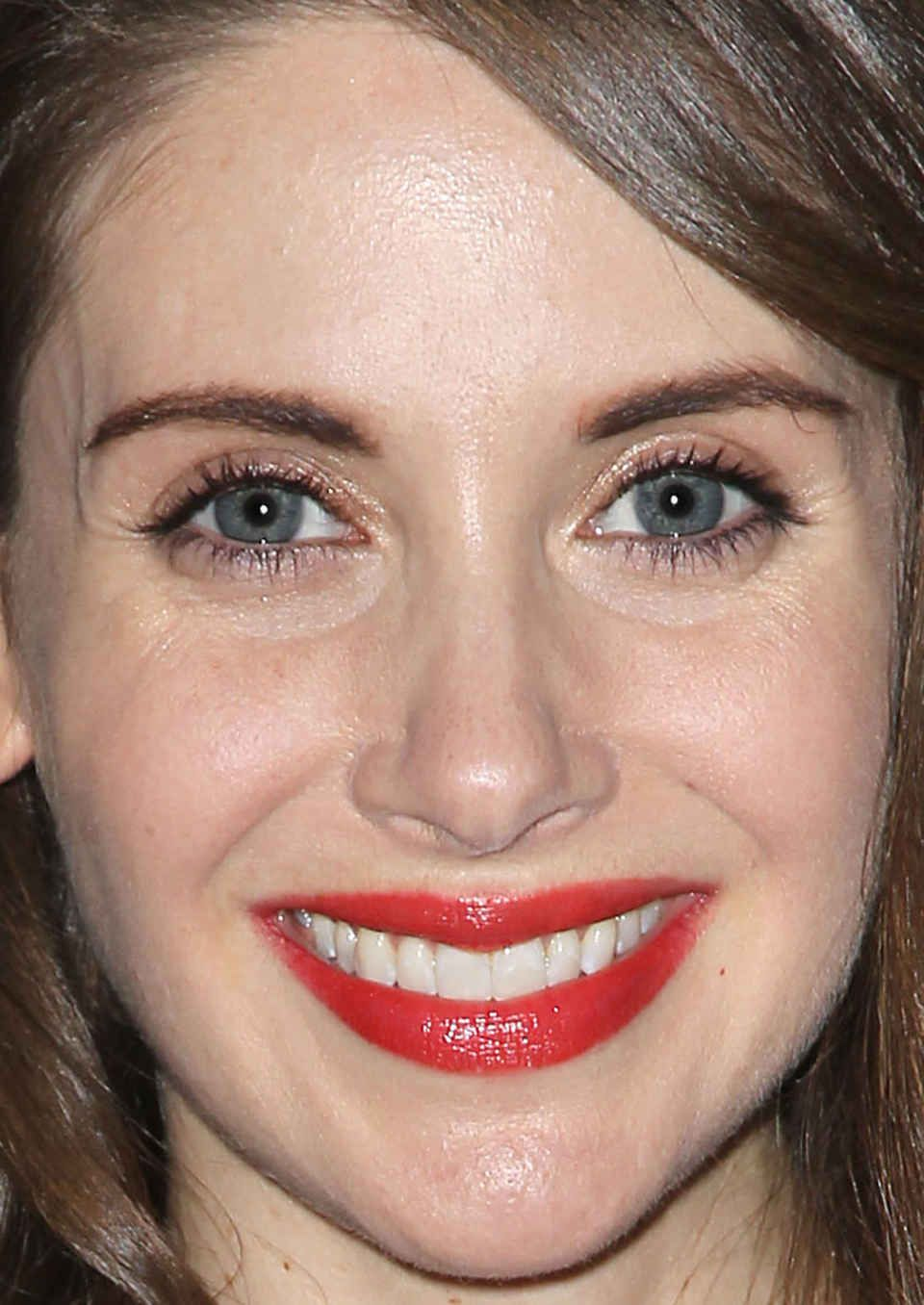Close-up of Alison Brie at the 2016 AOL Build Speaker Series.