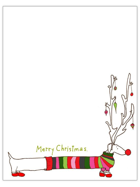 Free Christmas Letter Templates Gardens, Weiner dogs and Letter