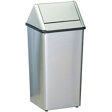 Stainless Steel Trash Can Rectangular Swing Top Trash Can