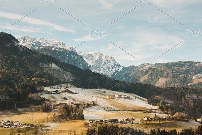 Alpine Hills in Winter by Ines Perković on @creativemarket